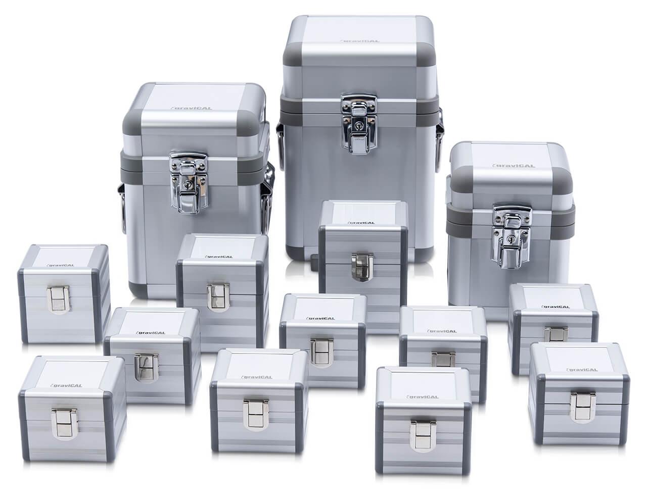 Alu-Koffer für Einzelgewichte der E Klasse