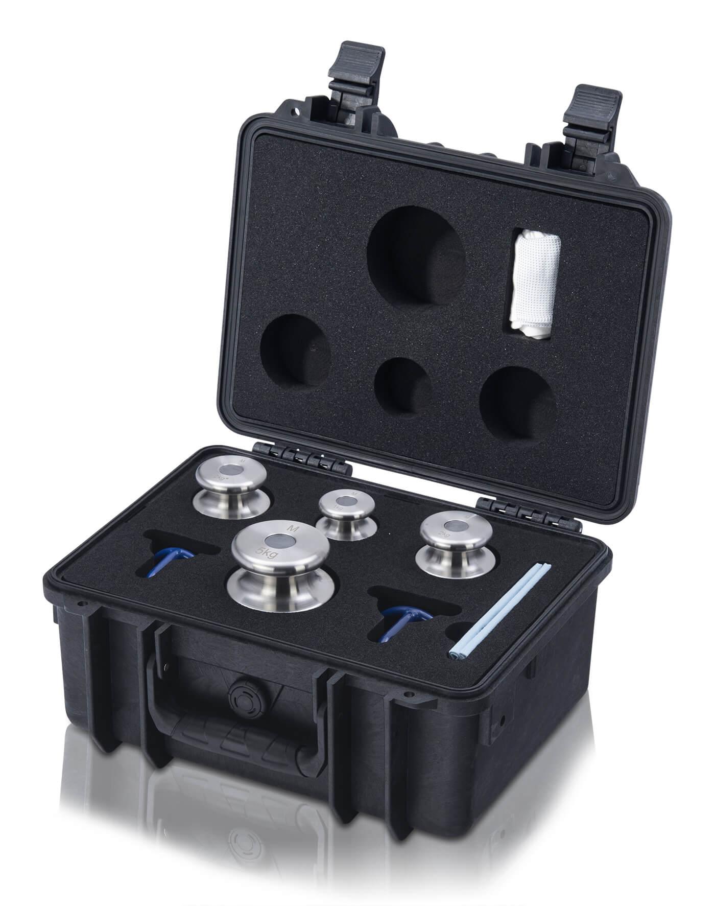 M1 Gewichtsatz 1 kg - 5 kg im Kunststoffkoffer