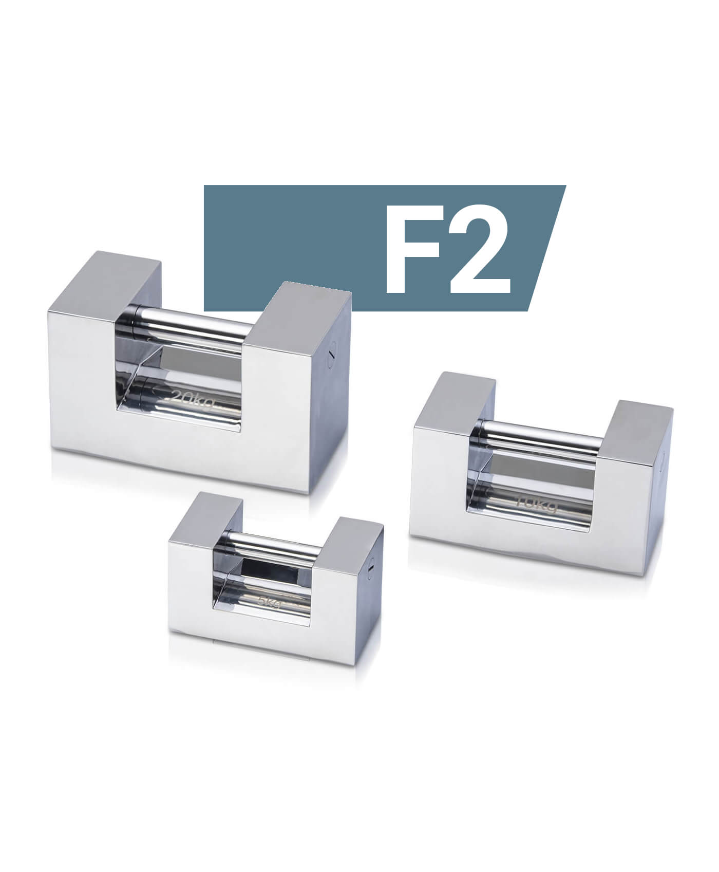 F2 Stainless steel block weights