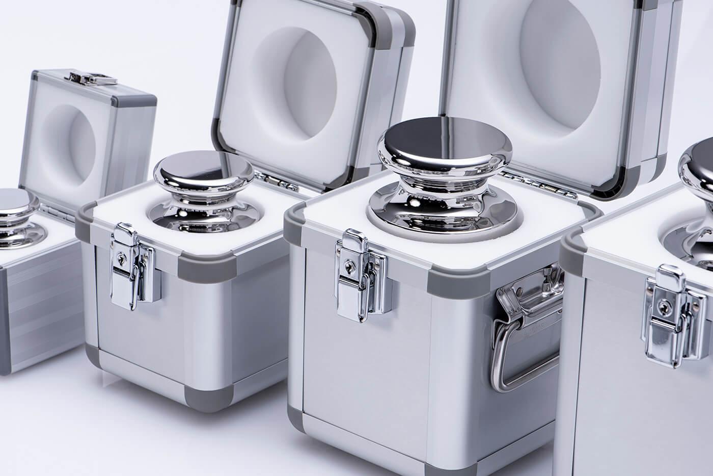 Detailbild Alu-Koffer für Einzelgewichte der E Klasse