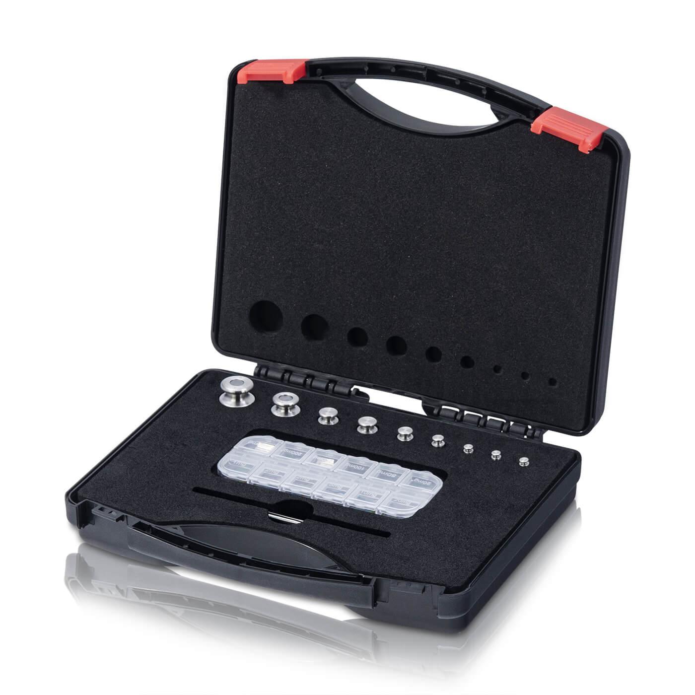 M1 Gewichtsatz 1 mg - 100 g im Kunststoffkoffer